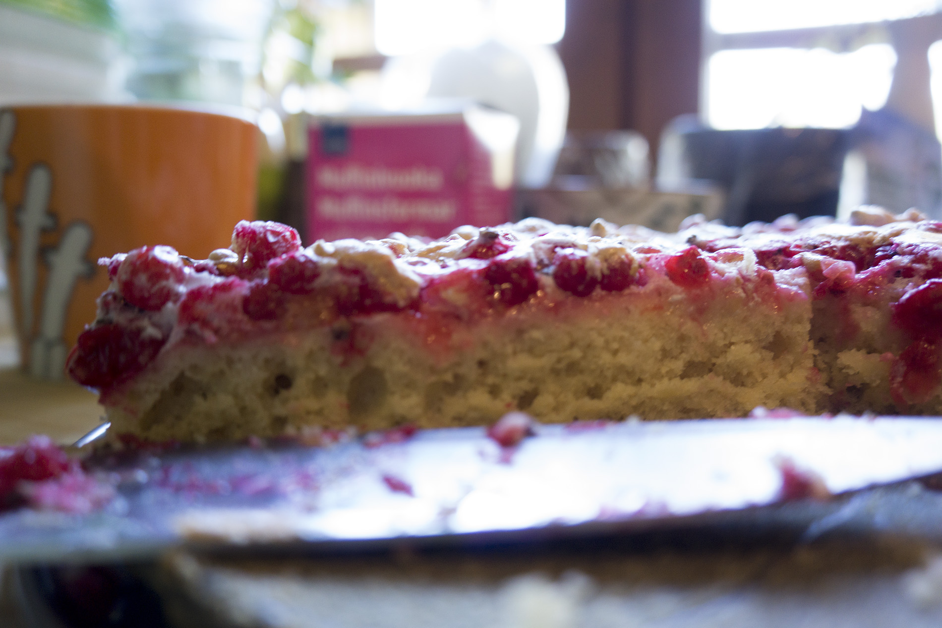 Delicious Ribisel cake made from fresh red currants