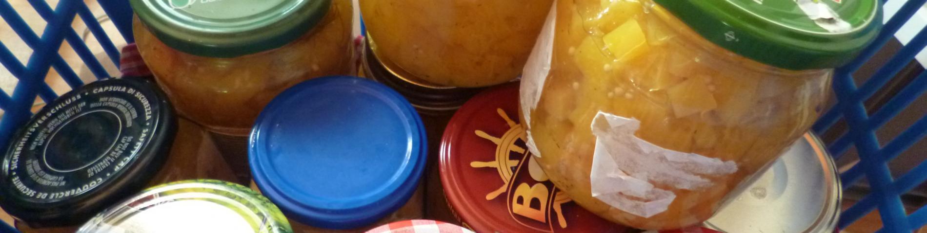 Homemade pickled pumpkins